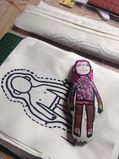 Doll outline RR